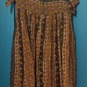 Hippie style dress.